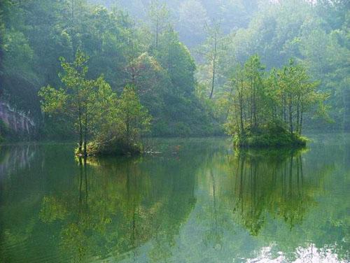 景点九龙湖风景区 九龙湖风景区总面积36.