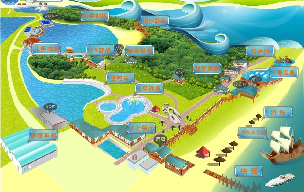 渔岛游览图