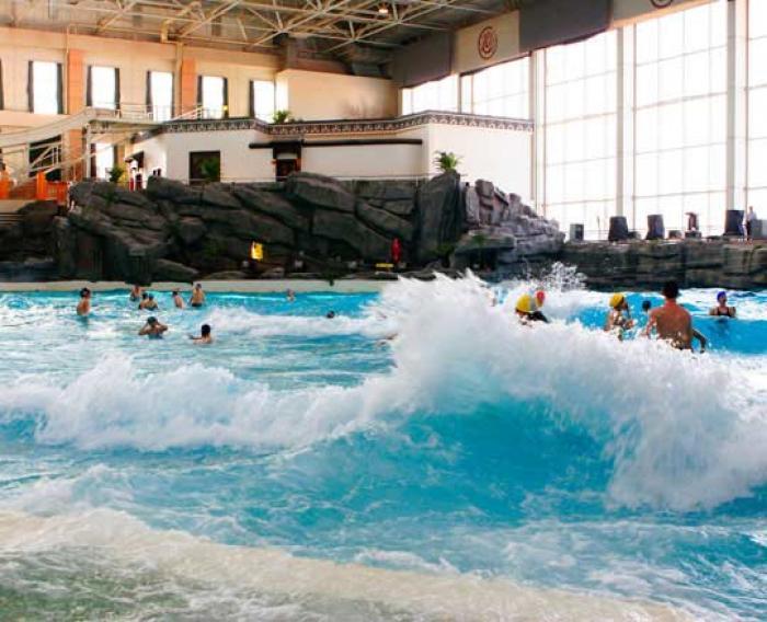 景点介绍: 摩锐温泉水世界一层戏水亲子区 56 项运动,让您和您的家人