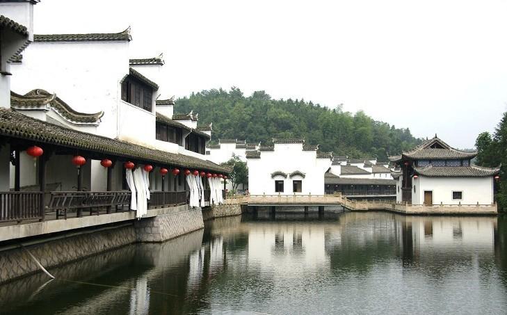 风情岛上江南古建筑