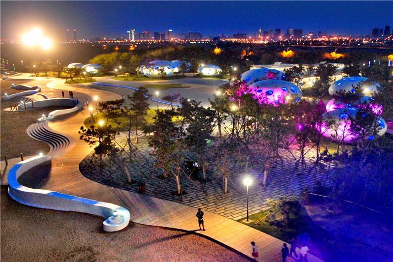 梦幻海滩夜景